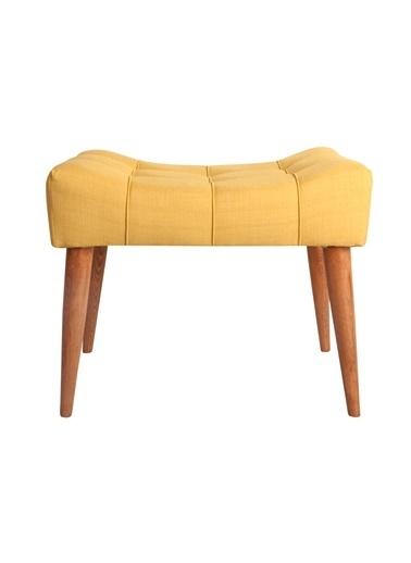 Ze10 Design New Cool Puf Sarı Sarı